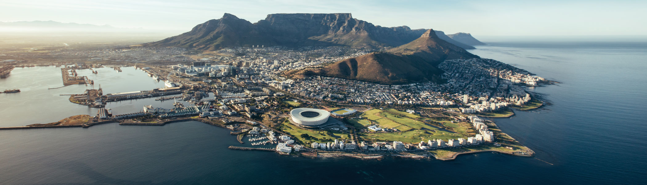 mouille point aerial shot