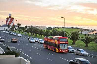 city sightseeing bus in mouille point